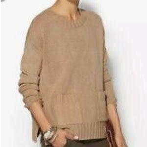 Joie Noam Wool Cashmere Blend Knit Tan Pullover
